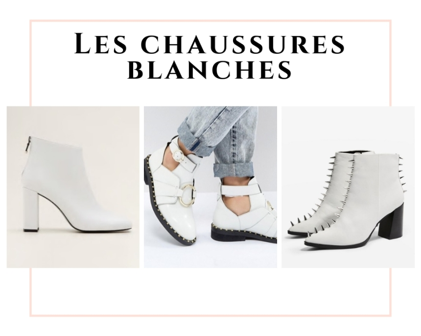 les chaussures blanches