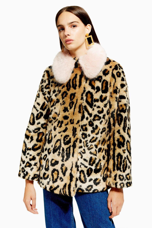 manteau leopard petite