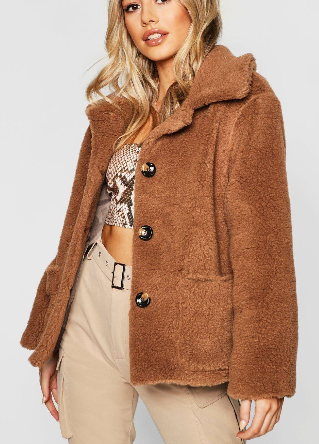 manteau marron petite