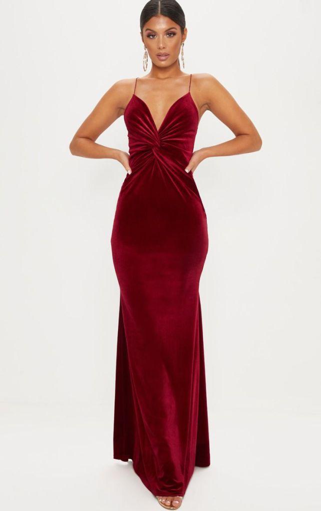 robe en velours rouge - tenue de fêtes