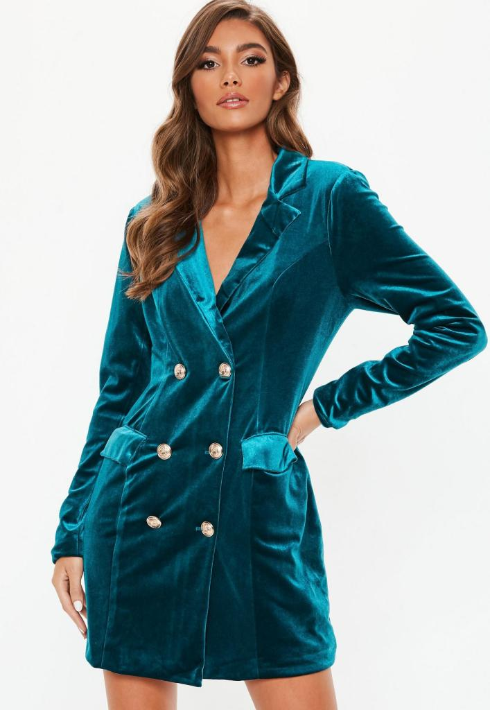 robe blazer velours tenue de fêtes