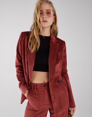 veste tailleur velours